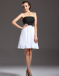 A-Line/Princess Strapless Knee-Length Chiffon Homecoming Dress With Beading Appliques Lace Sequins Pleated (022003207)