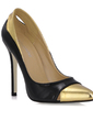 Patent Leather Stiletto Heel Pumps Closed Toe With Split Joint shoes (085016464)