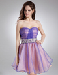 A-Line/Princess Sweetheart Short/Mini Organza Homecoming Dress With Ruffle Beading Sequins (022008967)