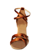 Women's Satin Heels Sandals Latin With Ankle Strap Dance Shoes (053008920)