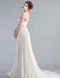 Empire Strapless Chapel Train Chiffon Wedding Dress With Ruffle Lace Beading (002011711)