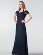 Sheath/Column Halter Floor-Length Chiffon Bridesmaid Dress With Ruffle (007004439)