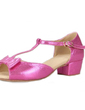 Kids' Leatherette Heels Latin With Bowknot T-Strap Dance Shoes (053039392)