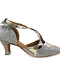 Women's Leatherette Sparkling Glitter Heels Pumps Modern Dance Shoes (053013529)