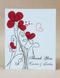 Personalized Flower Design Hard Card Paper Thank You Cards (Set of 50) (118029390)