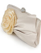 Gorgeous Silk/Lace With Flower/Rhinestone Clutches (012028254)