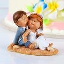 Amusement à la plage Résine Mariage Décoration pour gâteaux