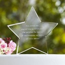 Personalized Star Design Crystal Cake Topper