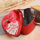 Lovely Heart-shaped Favor Tin With Bow (Set of 12)