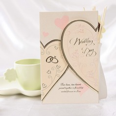 Style cœur Pli en 3 Invitation Cards (Lot de 50)