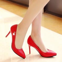 Women's Leatherette Stiletto Heel Closed Toe