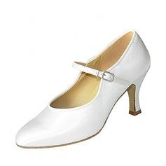 Women's Satin Heels Pumps Modern Ballroom Dance Shoes