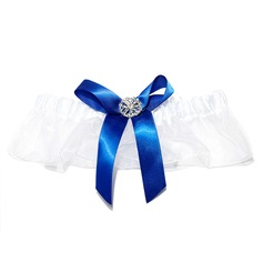 Classic Satin Organza With Rhinestone Wedding Garters
