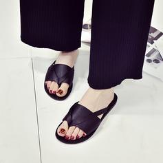 Femmes Satiné Talon plat Sandales Chaussons chaussures