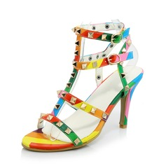 De mujer Cuero Tacón stilettos Sandalias Solo correa zapatos