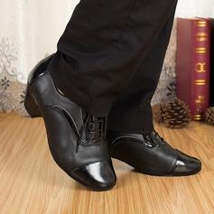 Män Äkta läder Klackar Sandaler Latin Dansskor