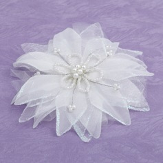 Elegant Artificial Silk Flowers & Feathers