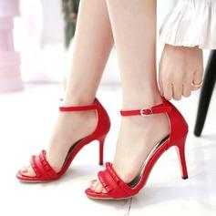 Frauen Kunstleder Stöckel Absatz Sandalen Peep Toe mit Andere Schuhe