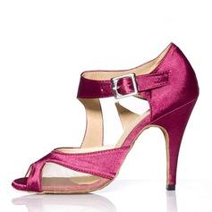 Frauen Heels Sandalen Latin mit Knöchelriemen Tanzschuhe