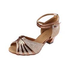 Donna Glitter scintillanti Tacchi Latino Sala da ballo con Listino alla caviglia Fibbia Scarpe da ballo