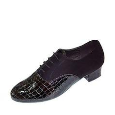 Men's Leatherette Heels Flats Latin Ballroom Dance Shoes
