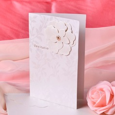 Style Florale Pli latéral Invitation Cards (Lot de 50)