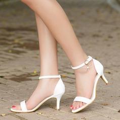 Naisten Keinonahasta Piikkikorko Sandaalit Avokkaat Peep toe jossa Solki kengät