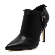 Femmes Similicuir Talon stiletto Escarpins avec Rivet chaussures
