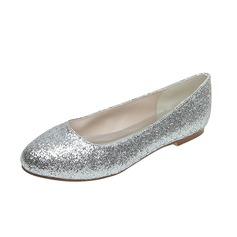 Dla kobiet Sparkling Glitter Płaski Obcas Zamknięty Toe Mieszkania