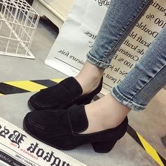 Dla kobiet Zamsz Obcas Slupek Czólenka Zakryte Palce Z Frędzle obuwie