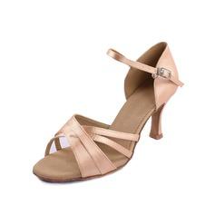 Dámské Satin Na podpatku Latinské Taneční boty
