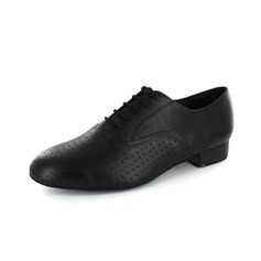 Men's Real Leather Heels Pumps Modern With Hollow-out Dance Shoes