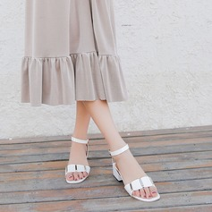 Dla kobiet PU Obcas Slupek Sandały Czólenka Otwarty Nosek Buta Bez Pięty obuwie