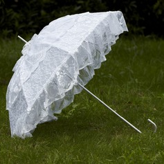 Noble Terylene/Lace Wedding Umbrellas With Appliques