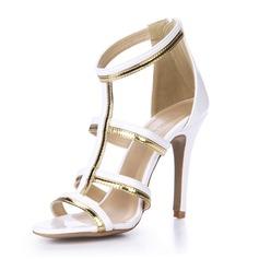Patent Leather Sandals Pumps Peep Toe shoes