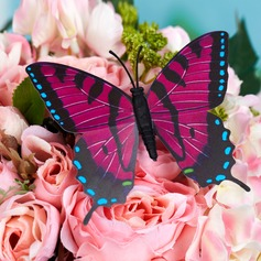 Beautiful Plastic Butterfly Decorative Accessories (set of 6)