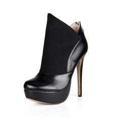 Similpelle Tacco a spillo Piattaforma Stivali alla caviglia Stivali da equitazione scarpe