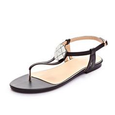 Äkta läder Flat Heel Sandaler Slingbacks skor