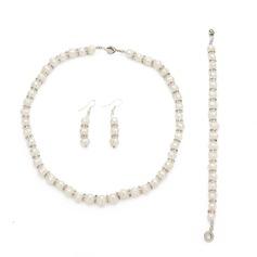 Nádherný Slitina/Perla S Drahokamu Ladies ' Sady šperků
