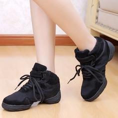 Femmes Enfants Toile Tennis Pratique avec Dentelle Chaussures de danse