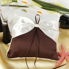 Elegant Ring Pillow in Satin With Sash