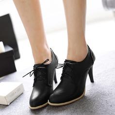 Femmes Similicuir Talon stiletto Escarpins avec Dentelle chaussures