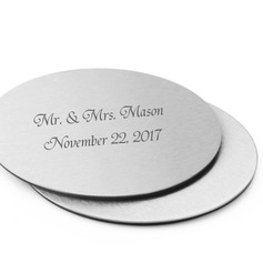 Personalized Stainless Steel Coaster Favors (Set of 2)