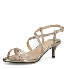 Women's Leatherette Stiletto Heel Sandals Beach Wedding Shoes With Buckle