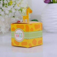 Cute Giraffe Cubic Favor Boxes (Set of 12)