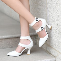 Women's Suede Chunky Heel Sandals Pumps Closed Toe Mary Jane With Others shoes