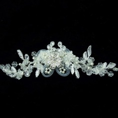 Gorgeous Rhinestone Pearl Lace Fascinators