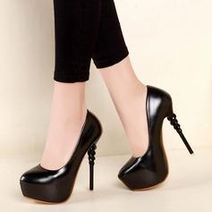 Femmes Similicuir Talon stiletto Escarpins Plateforme avec Talon de bijoux chaussures