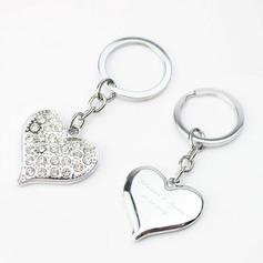 personnalisé En forme de coeur En alliage de zinc Portes-clés (Lot de 4)
