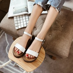 Kvinner PU Flat Hæl Sandaler Flate sko sko